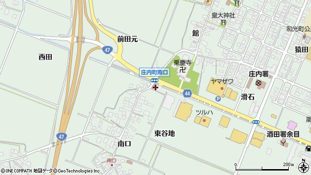 山形県東田川郡庄内町余目東谷地周辺の地図
