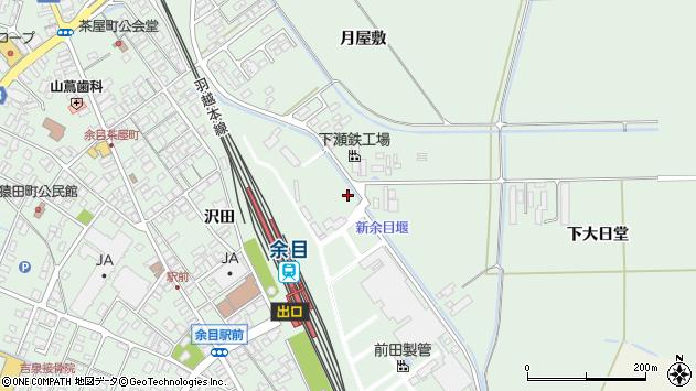 山形県東田川郡庄内町余目沢田222周辺の地図