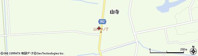 山形県酒田市山寺宅地周辺の地図