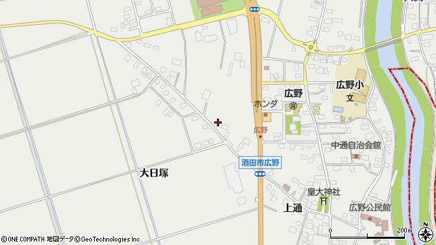 山形県酒田市広野上通153周辺の地図