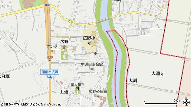 山形県酒田市広野中通50周辺の地図