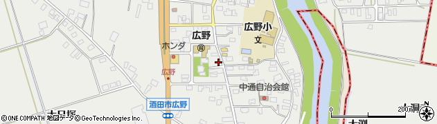 山形県酒田市広野中通42周辺の地図