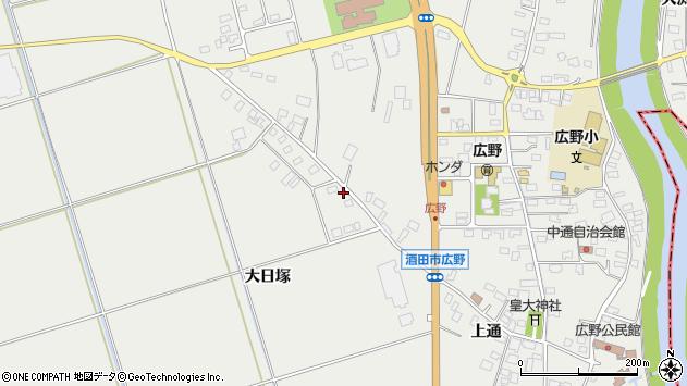 山形県酒田市広野大日塚77周辺の地図
