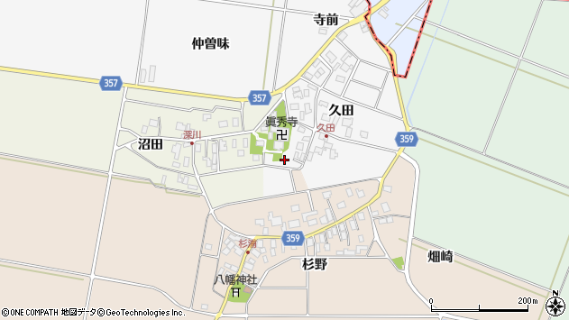 山形県東田川郡庄内町久田久田33周辺の地図