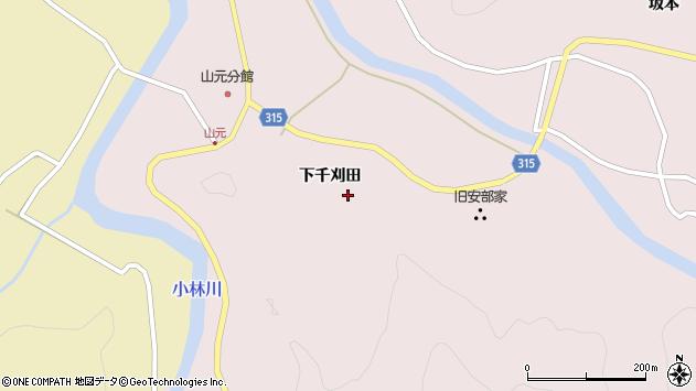 山形県酒田市山元下千刈田79周辺の地図