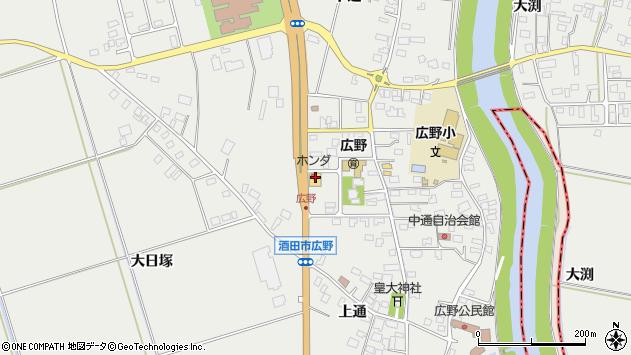 山形県酒田市広野中通32周辺の地図