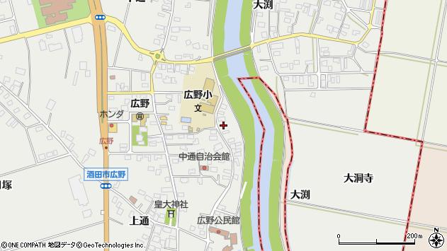 山形県酒田市広野中通133周辺の地図