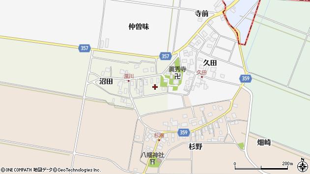 山形県東田川郡庄内町深川沼田3周辺の地図