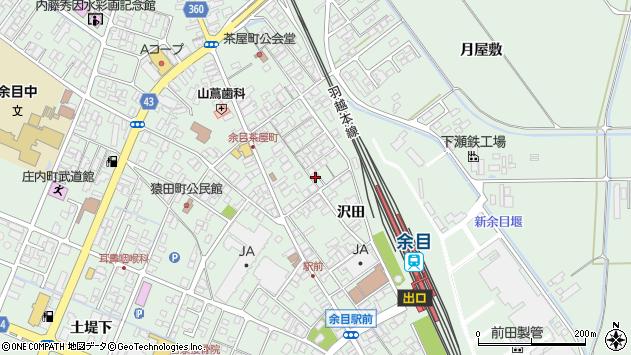 山形県東田川郡庄内町余目沢田107周辺の地図