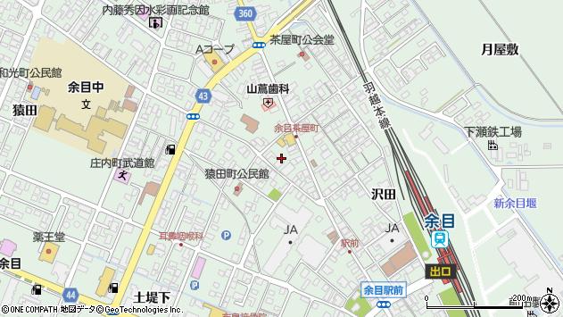 山形県東田川郡庄内町余目三人谷地6周辺の地図
