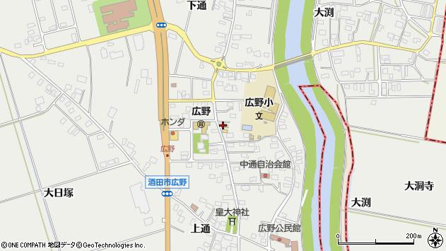 山形県酒田市広野中通60周辺の地図