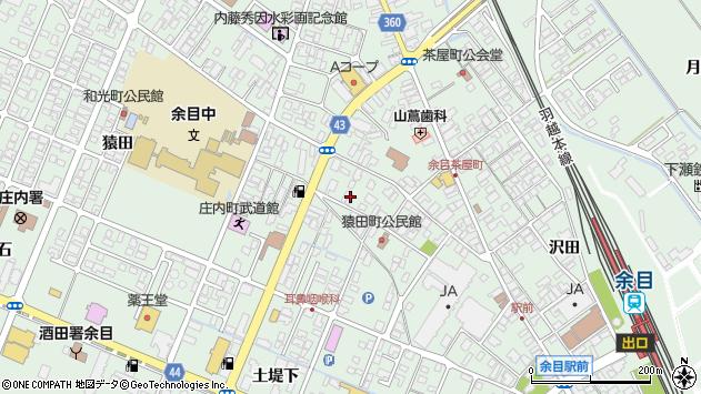 山形県東田川郡庄内町余目上猿田27周辺の地図