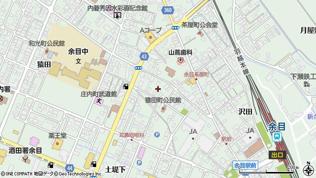 山形県東田川郡庄内町余目上猿田19周辺の地図