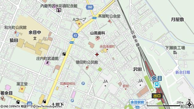 山形県東田川郡庄内町余目三人谷地12周辺の地図