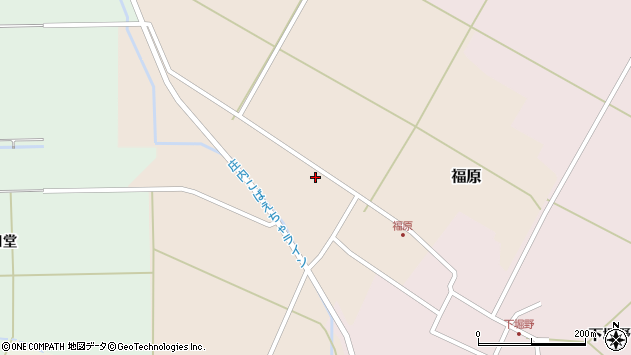 山形県東田川郡庄内町福原石蔵32周辺の地図