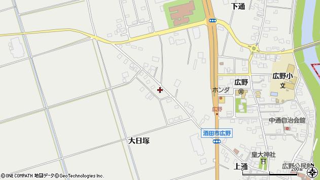 山形県酒田市広野大日塚103周辺の地図
