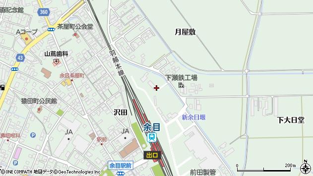 山形県東田川郡庄内町余目月屋敷243周辺の地図
