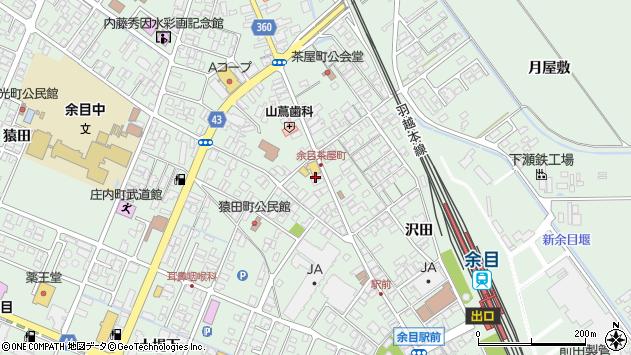 山形県東田川郡庄内町余目周辺の地図