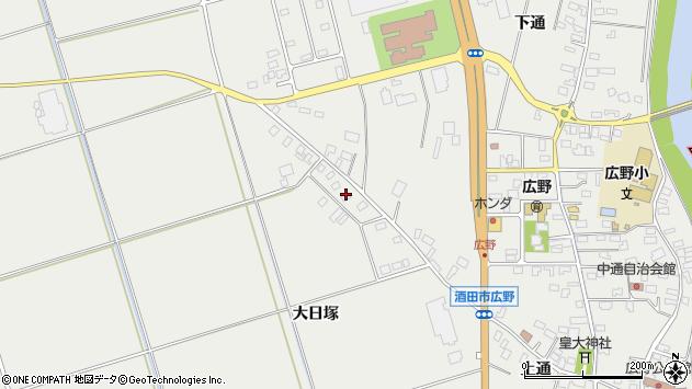 山形県酒田市広野上通105周辺の地図