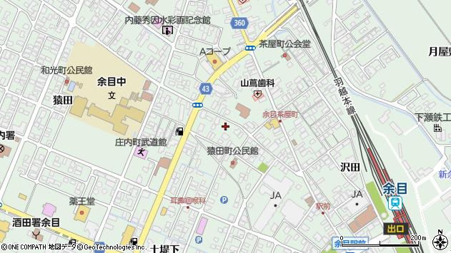 山形県東田川郡庄内町余目上猿田30周辺の地図