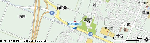 山形県東田川郡庄内町余目前田元周辺の地図
