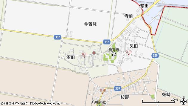 山形県東田川郡庄内町深川沼田16周辺の地図