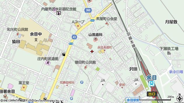 山形県東田川郡庄内町余目三人谷地24周辺の地図
