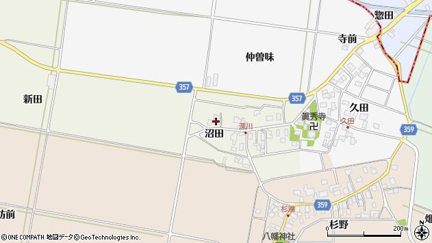 山形県東田川郡庄内町深川沼田46周辺の地図