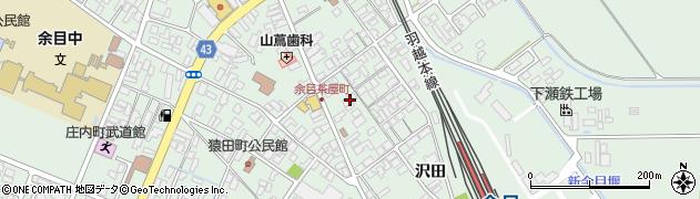 山形県東田川郡庄内町余目沢田157周辺の地図