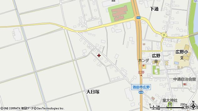 山形県酒田市広野大日塚107周辺の地図