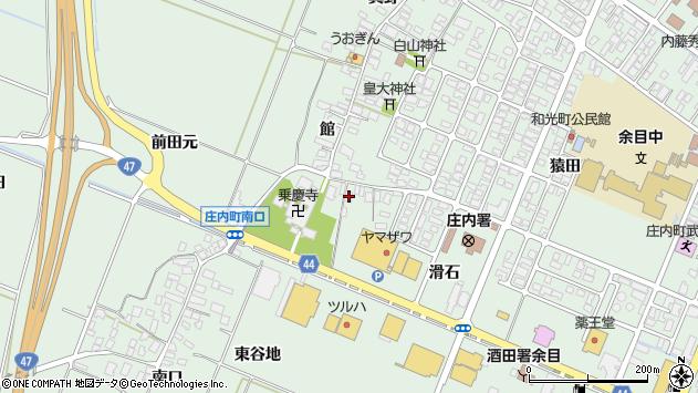 山形県東田川郡庄内町余目館22周辺の地図