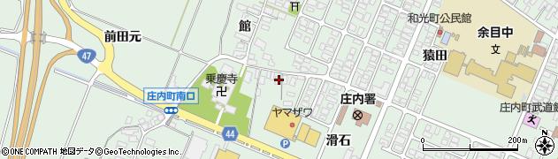 山形県東田川郡庄内町余目館21周辺の地図