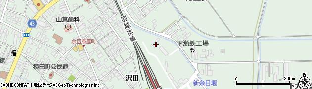 山形県東田川郡庄内町余目沢田57周辺の地図