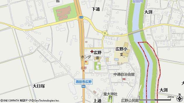 山形県酒田市広野中通85周辺の地図