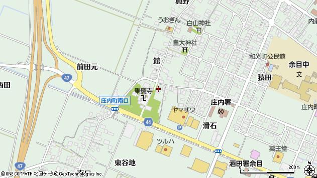 山形県東田川郡庄内町余目館23周辺の地図