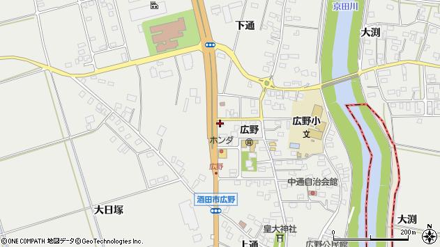 山形県酒田市広野中通83周辺の地図