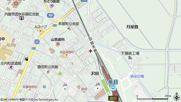 山形県東田川郡庄内町余目沢田73周辺の地図
