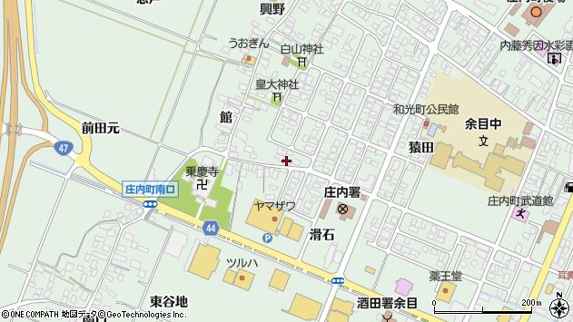 山形県東田川郡庄内町余目猿田186周辺の地図
