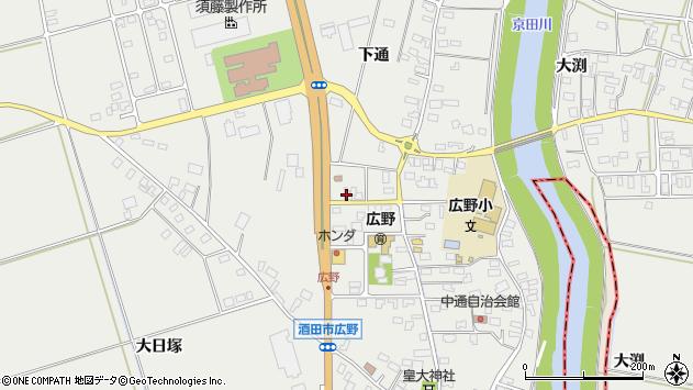 山形県酒田市広野下通202周辺の地図