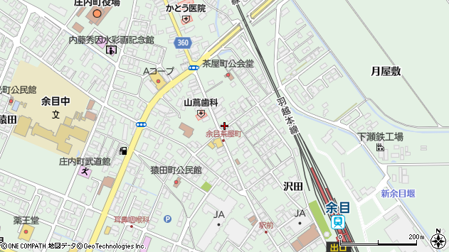 山形県東田川郡庄内町余目沢田162周辺の地図