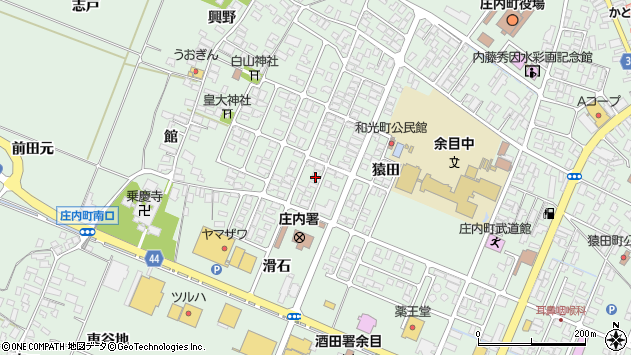 山形県東田川郡庄内町余目猿田78周辺の地図