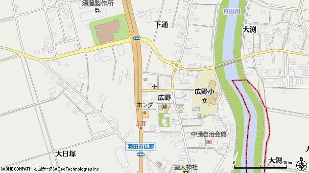 山形県酒田市広野下通201周辺の地図
