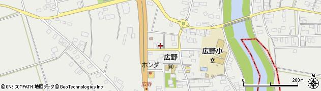 山形県酒田市広野下通周辺の地図