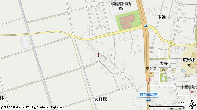 山形県酒田市広野大日塚周辺の地図