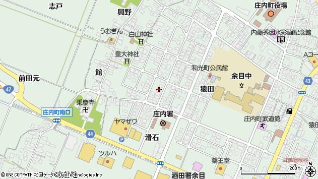 山形県東田川郡庄内町余目猿田77周辺の地図