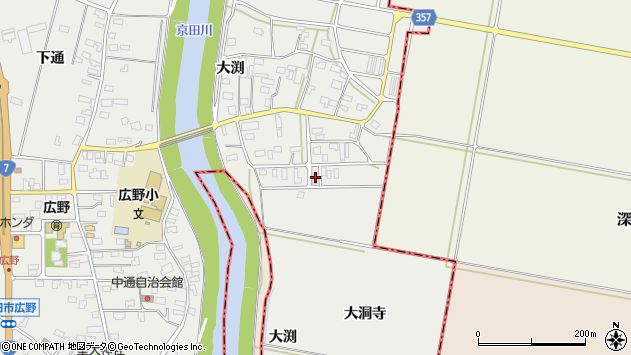 山形県酒田市広野大渕35周辺の地図