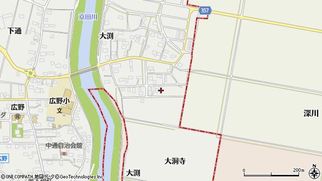 山形県酒田市広野大渕32周辺の地図