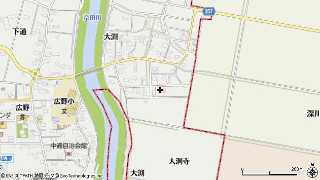 山形県酒田市広野大渕34周辺の地図