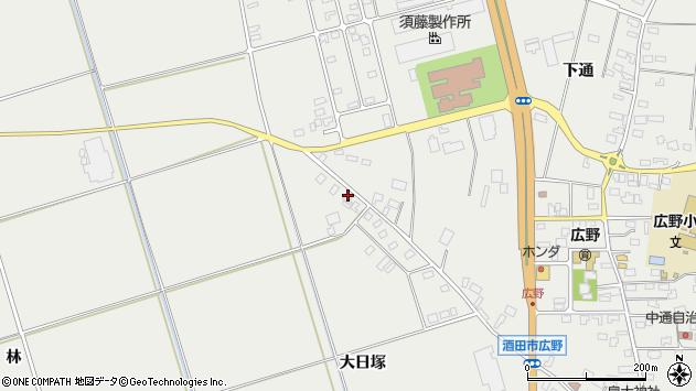 山形県酒田市広野大日塚113周辺の地図