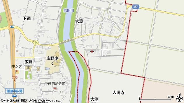 山形県酒田市広野大渕42周辺の地図